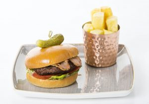 Burger & Chips at The Gibson