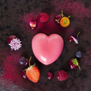 raspberry and white chocolate heart