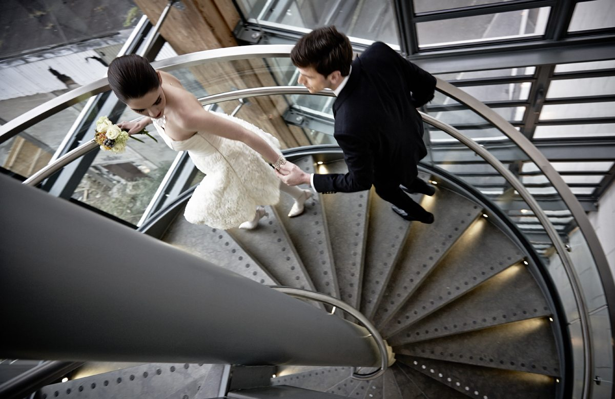 Wedding at The Gibson Spiral Staircase