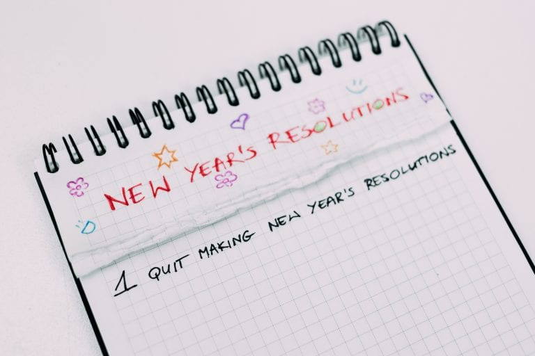 Quit new years resolutions