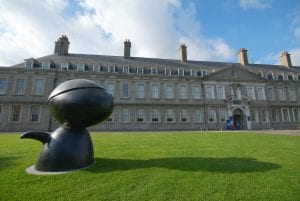 Irish Museum of Modern Art Entrance and front lawn with sculpture