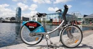 city bicycle in dublin city