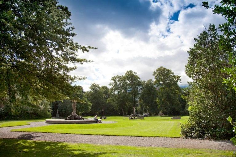 Iveagh Gardens Dublin on sunny day